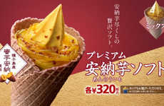 This Ice Cream Cone Looks and Tastes Like a Japanese Sweet Potato