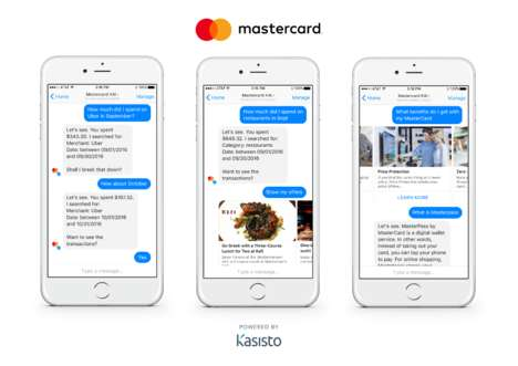 AI Banking Bots - Mastercard and Kasisto are Developing Innovations for Modern Banking