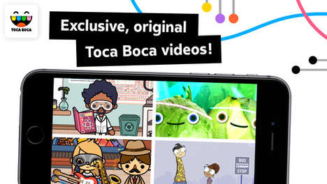 Playful TV Apps - 'Toca TV' Introduces Exclusive Videos and Recording Tools from Toca Boca