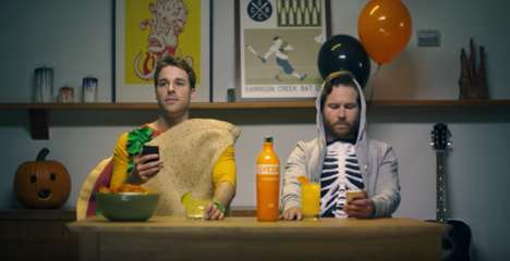 "Millennial-Targeted Halloween Ads - Svedka Series Pokes Fun at the Horrors of ""First World Problems"""