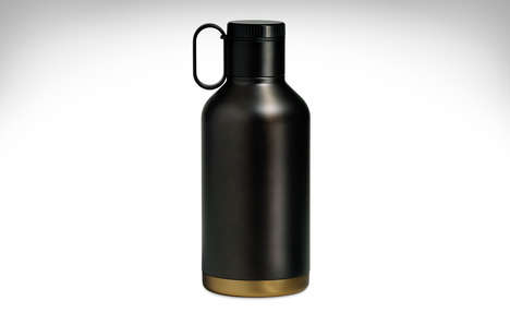 Insulated Microbrew Containers - The RBT Beer Growler Replaces Glass Growlers for Home Brew Bottling