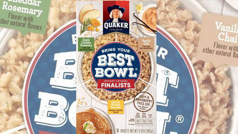 Fan-Picked Oatmeal Promotions - Quaker's New Contest Lets Fans Pick the Next Instant Oatmeal Flavor