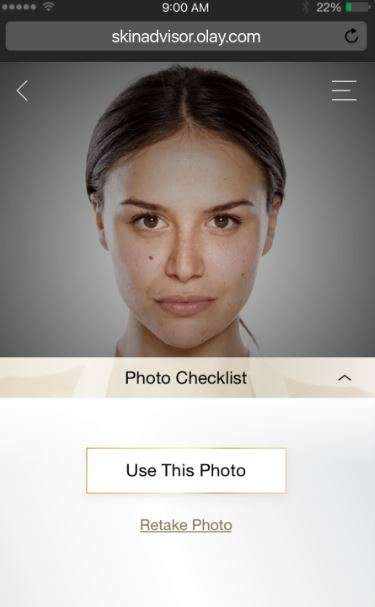 Web-Based Skincare Tools - The Olay Skin Advisor Offers Product Solutions for Problematic Areas