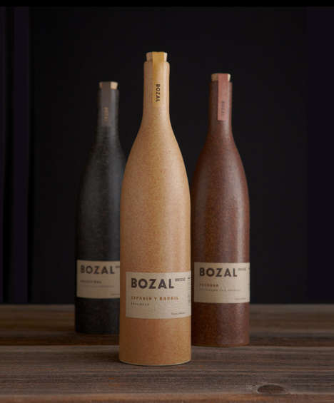 Earthy Mezcal Bottle Branding - These Alcohol Bottles Are Inspired by Mexican Tradition
