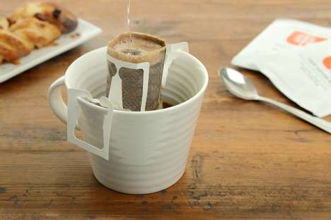 Portable Drip Coffee Bags - The Noble Arbre Portable Filters Can Be Attached to Any Cup