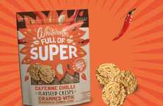 Cayenne-Spiced Superfood Crackers - Whitworths' New Flaxseed Crisps Feature a Fiery Seasoning