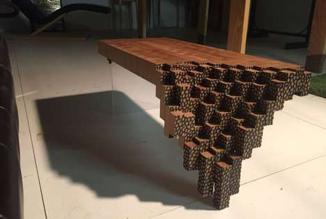 Game-Inspired Table Furniture - The Falling Brick Coffee Table Draws Inspiration from Minecraft