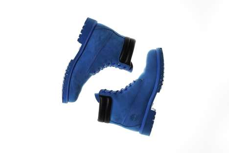 Electric Blue Work Boots - atmos Helped to Design These Vibrant Monochrome Blue Timberlands
