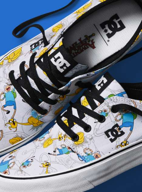 Cartoon-Inspired Skate Shoes - The DC x Adventure Time Collaboration Features Whimsical Designs