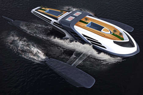 Submerging Luxury Yacht Designs - The Seataci Yacht Concept Can Operate in Shallower Waters