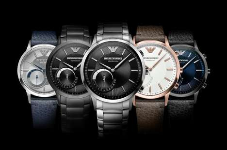 Hybrid Fashion Label Smartwatches - The Emporio Armani Connected Watches Balance Style and Function