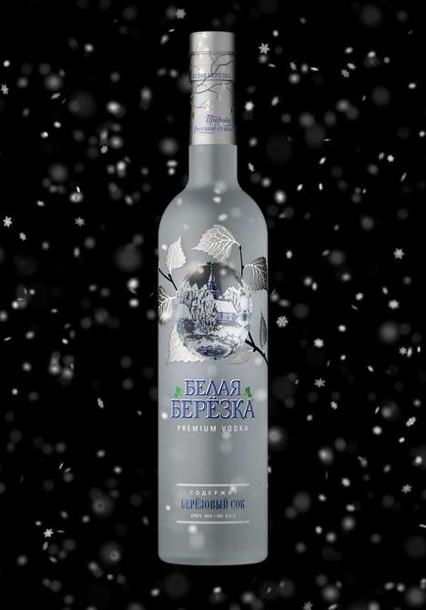Indented Vodka Bottle Concepts - A Designer Has Created a Seasonal Re-Imagination of Vodka Bottles
