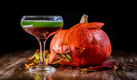 Two-Colored Halloween Cocktails - Skylon's 'Sleepy Hallow' Halloween Cocktail Drink is Eye-Catching