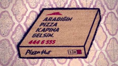 Pizza-Promoting Door Mats - Pizza Hut Transformed an Outdoor Floor Mat into a 'Floor Mat Flyer'