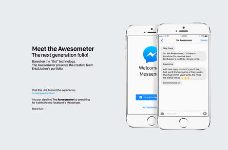 Creative Portfolio Bots - 'Awesometer' is a Bot for Messenger That Shows Off Eric&Julien's Portfolio