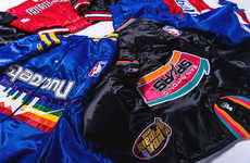 Collaborative Basketball Bombers - DTLR and Starter Joined for a Collection of Retro NBA Jackets