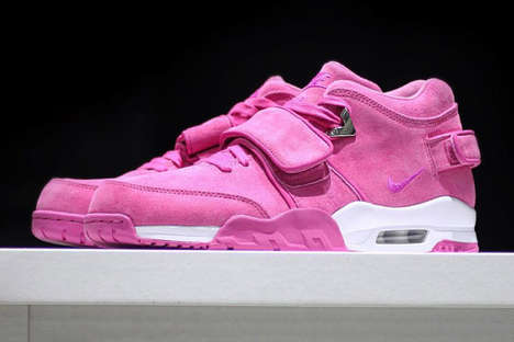 Charitable Fuchsia Sneakers - Victor Cruz Joined with the Sneaker Room for the 'Pink Fire' Release