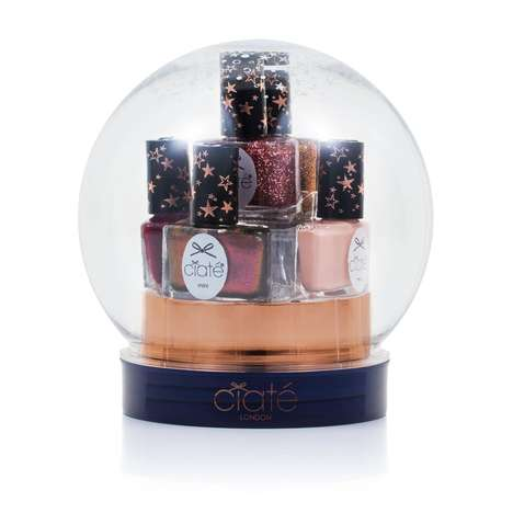 Seasonal Nail Polish Packaging - Ciate's Christmas Manicure Set is Packaged in a Snow Globe