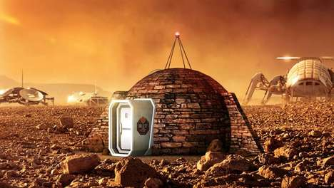 Martian Show Homes - A Mars Show Home is Being Used to Tease National Grographic's 'Mars' Series