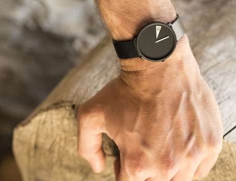 Peeking Digit Timepiece Watches - The 'FreakishWATCH' is Focused on the Current Time Only