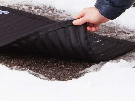 Eco Snow-Melting Mats - The Saltnets Can Melt Ice Quickly, Effectively and Without Salty Runoff