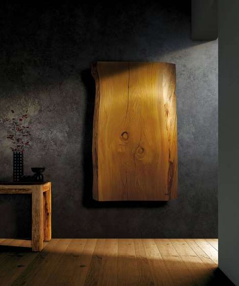Decorative Wooden Wall Heaters - The Homwarm 'XILO' Helps to Warm Towels and Other Materials