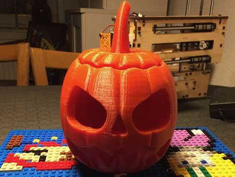 3D-Printed Jack-o'-Lanterns - This DIY Halloween Decoration is Created with Additive Manufacturing