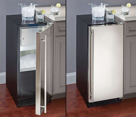 Dedicated Domestic Ice Makers - The Crystal Clear Ice Machines Make and Hold Up to 34-Pounds of Ice