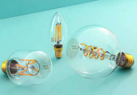 Old-Fashioned LED Bulbs - The 'WattNott' Edison Bulbs Offer an Antique Aesthetic with a Modern Twist