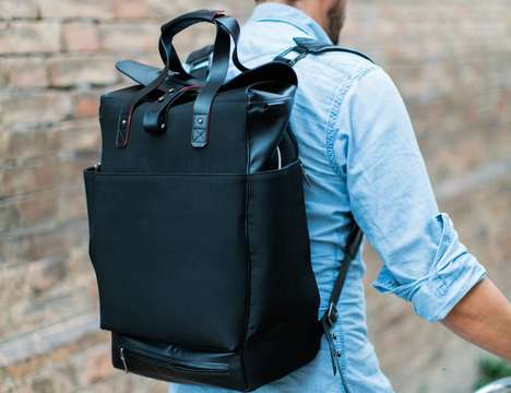 Structured Italian Luggage Backpacks - The 'ItalianGrace' Durable Backpack is Inherently Chic