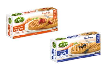 Vegetable-Infused Frozen Waffles - Garden Lites Waffles are Made with Carrots and Butternut Squash