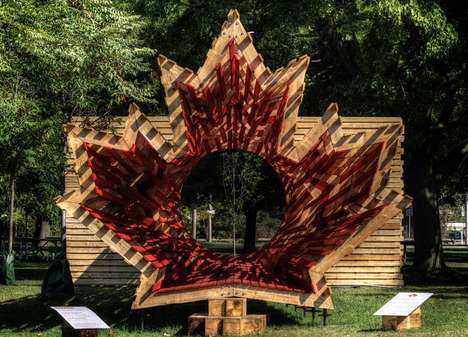 Commemorative Canadian Tunnels - Hello Wood's Freedom Tunnel is a Memorial Shaped Like a Maple Leaf