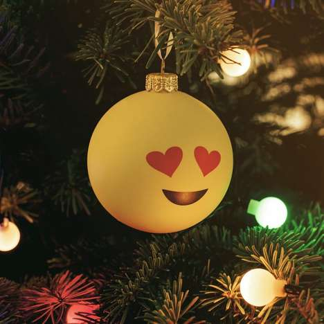 Christmas Emoji Baubles - These Christmas Decorations are Inspired by Pop Culture Imagery