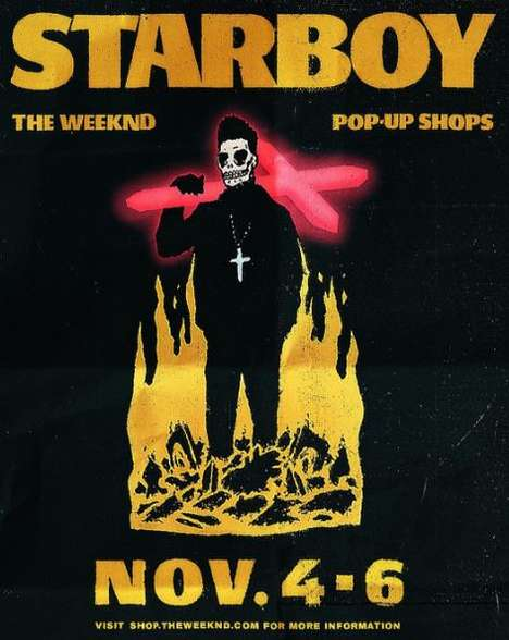 R&B Merchandise Pop-Ups - The Weeknd Pop-Ups Will Feature New Album Merchandise from the Artist