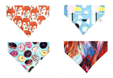 Playful Dog Bandanas - 'Howl and Hound' Offers Handmade Pet Accessories That Feature Vibrant Designs
