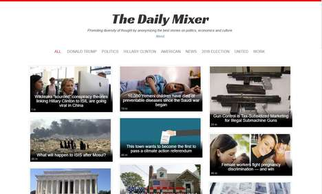 Anonymous News Aggregators - 'The Daily Mixer' Removes Bias by Hiding the Sources for News Articles