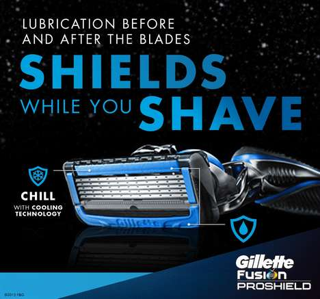 Gentle Pre-Lubricated Razors - The Gillette Fusion ProShield Razor Features Cooling Technology