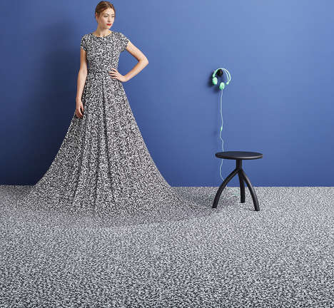 Soft Flooring Dresses - The Antoine Peters x Forbo 'Floor-Dress' Was Created for Dutch Design Week