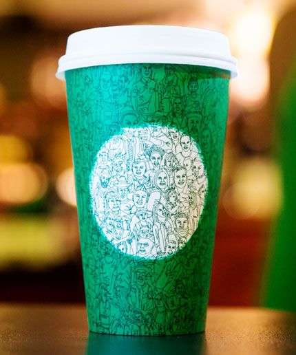 Unity-Promoting Coffee Cups - The New Starbucks Holiday Cup Comes in a Festive Green Color