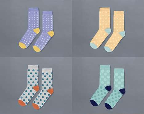 Randomly Combined Socks - 'Polyamorous Socks' Look Good No Matter the Combination