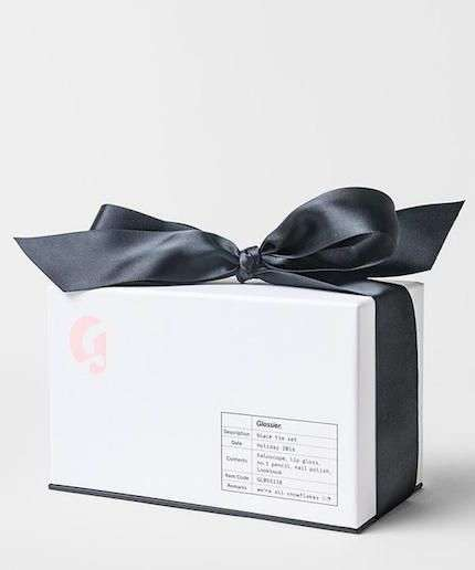 Black-Tie Beauty Boxes - Glossier's 'Black Tie Box Set' is Dressed Up for the Holiday Season
