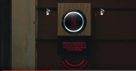 Autonomous Trick-or-Treat Doorbells - Netflix's DIY Halloween Doorbell Permits Nonstop Movie Viewing