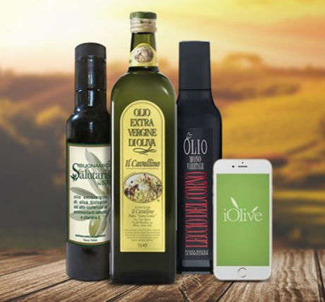 NFC Olive Oil Bottles - These Bottles of Olive Oil Feature Tags That Connect with the iOlive App