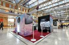 Immersive Aircraft Experiences - Qatar Airways is Showing Off Its Airbus A350 at a London Station