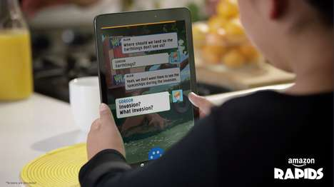 Interactive Reading Apps - 'Amazon Rapids' Gets Kids Interested in Reading Through Text Messaging