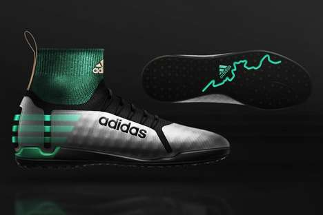 Conceptual Feminine Soccer Shoes - The Adidas Turf Soccer Cleats Morph Between Different Styles