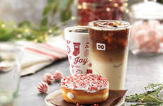 Candy Cane-Coated Donuts - Dunkin' Donuts' Candy Cane Crunch Donut Delivers a Taste of the Holidays