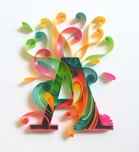 Whimsical Paper Typography - This Artist Makes Beautiful Art From Colored Pieces of Paper