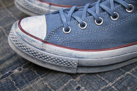 Dip-Dyed Indigo Sneakers - Tenue De Nîmes Joined with Converse for a Pair of Hand-Dyed High-Tops