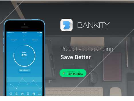 Monetary Prediction Banking Apps - The 'Bankity' Bank App Tracks Spending in Real-Time